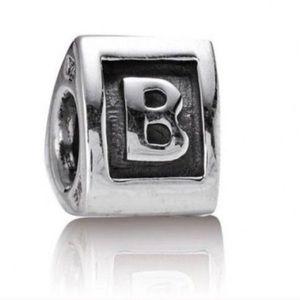 Pandora block letter B charm